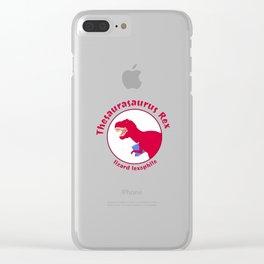 Thesaurasaurus Rex Clear iPhone Case