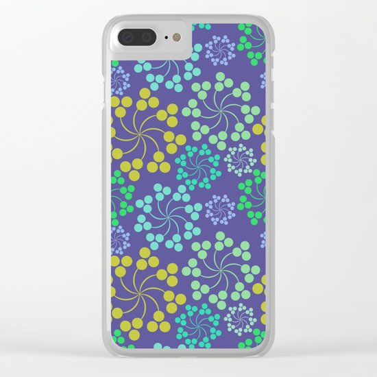 Fun Multicolored Whirligig Pattern Clear iPhone Case