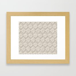 Cream Floral Lace Pattern Framed Art Print