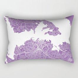 Auckland map lilac Rectangular Pillow