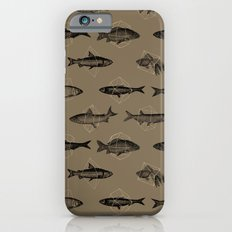 Fishes In Geometrics (Dark Sand) Slim Case iPhone 6