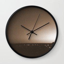 Sepia Sunset Wall Clock