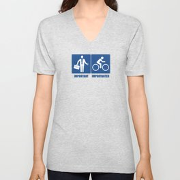 Work Is Important, Cycling Is Importanter Unisex V-Neck