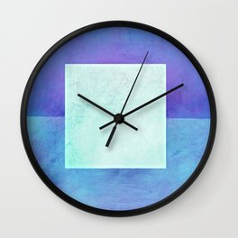 Square Composition XI Wall Clock