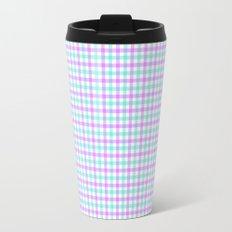 Gingham purple and teal Travel Mug