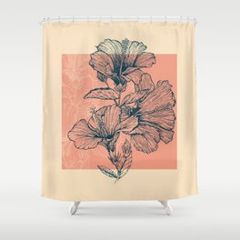 Hibiscus Colors Shower Curtain