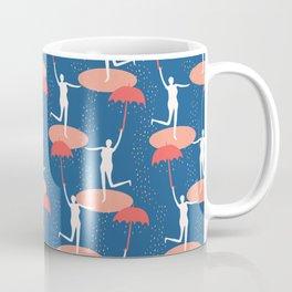 Female figure holding open umbrella. Coffee Mug