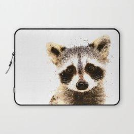 Raccoon Watercolor Print, Woodland Animal Print, Raccoon Wall Art Laptop Sleeve