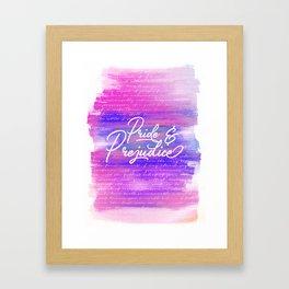 Pride & Prejudice Vibrant Quotes Framed Art Print