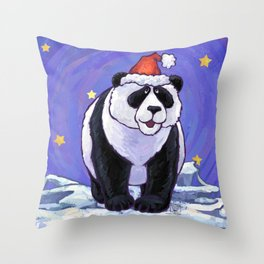 Panda Bear Christmas Throw Pillow