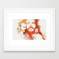 bon iver Framed Art Prints featuring Blindsided by Your Music Design