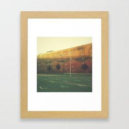 Vertical Parking Lot Framed Art Print