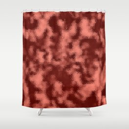 Dark Mottled Copper Rose Foil Shower Curtain