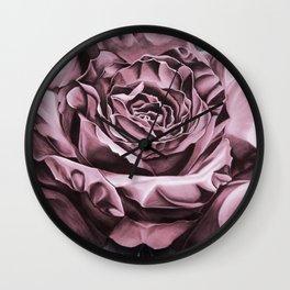 Fifties Rose, pastel drawing Wall Clock