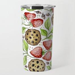 Strawberries and Cookies Design Travel Mug