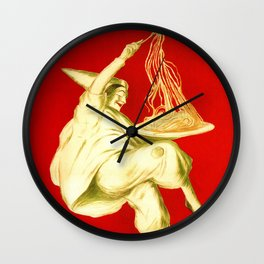 Pasta Baroni Leonetto Cappiello Wall Clock