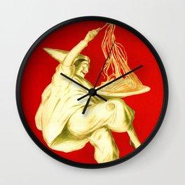 Pasta Baroni Leonetto Cappiello Wall Clock
