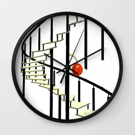 Girl and a Cherry Staircase Wall Clock