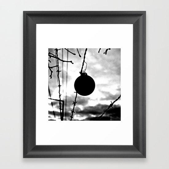 A dark Christmas Framed Art Print