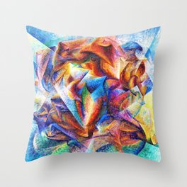 Dynamism of a Soccer Player - Digital Remastered Edition Throw Pillow