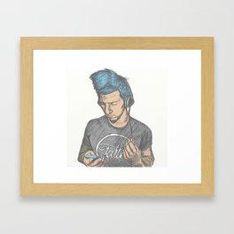 Pastel Josh Framed Art Print