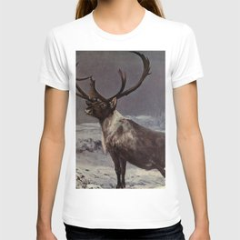 Vintage Reindeer Painting (1909) T-shirt