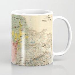 Vintage Geological Map of The Mount Everest Region (1921) Coffee Mug