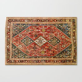 Qashqa'i  Antique Fars Persian Tribal Rug Canvas Print