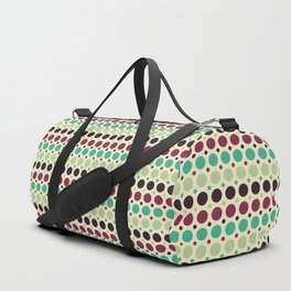 Peacock Polka Dot Pattern Duffle Bag