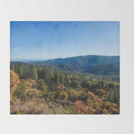 Fall Sunrise Photography Print Throw Blanket
