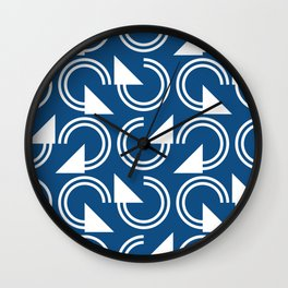 classic blue circles Wall Clock