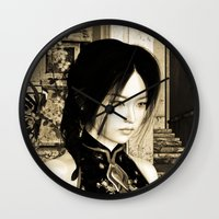 asian Wall Clocks featuring Asian Beauty by Design Windmill