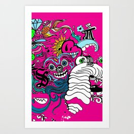 Doodle Graffitti Art Print