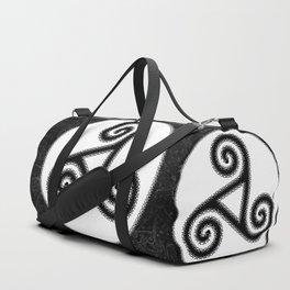 Trisquel Black and White V Duffle Bags Duffle Bag