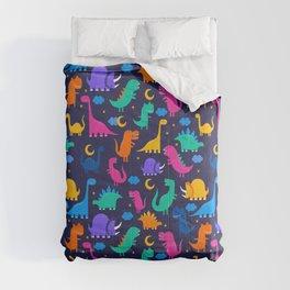 Dinosaurs At Night Rainbow Dinosaur Kids Pattern Comforters