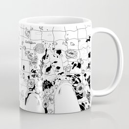 floating flowers Coffee Mug