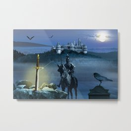 Camelot And The Sword Excalibur Metal Print