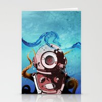 diver Stationery Cards featuring Diver by Tony Vazquez