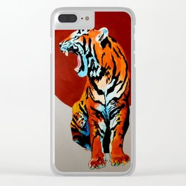 Tiger and Sun Clear iPhone Case