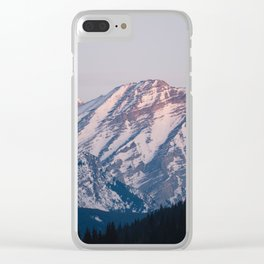 Golden Hour in the Rockies Clear iPhone Case