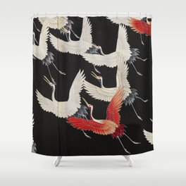 20th Century Flying Cranes Shower Curtain