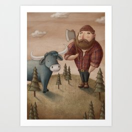 Paul Bunyan Art Print