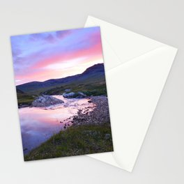 Sunset at Kungsleden Stationery Cards