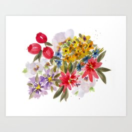Farmers Market Bouquet 1 Art Print