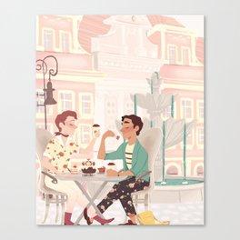 Coffee Date Canvas Print