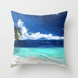 Beach Landscape Throw Pillow
