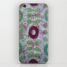 Zinnias in Purple and Green iPhone Skin