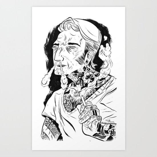 Psychobilly Art Print