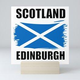 Scotland Edinburgh Flag Mini Art Print