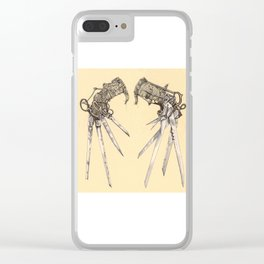 Scissorhands(Antique) Clear iPhone Case